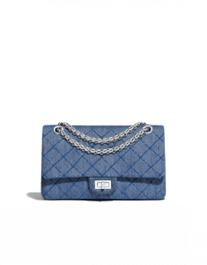 Chanel Blue Denim 2.55 Reissue Size 225 Bag