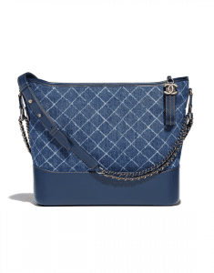 Chanel Blue Denim/Calfskin Gabrielle Large Hobo Bag