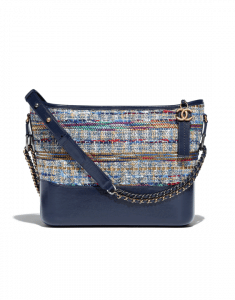 Chanel Blue Multicolor Tweed/Calfskin Gabrielle Hobo Bag