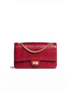 Chanel Burgundy Python 2.55 Reissue Size 225 Bag