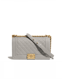 Chanel Gray Boy Chanel Old Medium Flap Bag