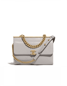 Chanel Gray Coco Luxe Small Flap Bag