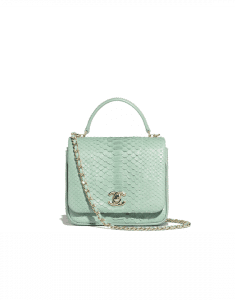 Chanel Green Python Citizen Chic Mini Flap Bag
