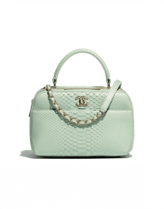 Chanel Green Python Trendy CC Small Bowling Bag