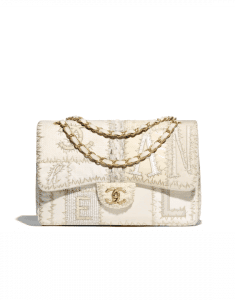 Chanel Ivory Patchwork Jumbo Flap Bag