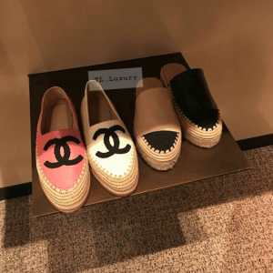 Chanel Lambskin/Grosgrain Espadrilles and Suede Calfskin/Grosgrain Espadrilles