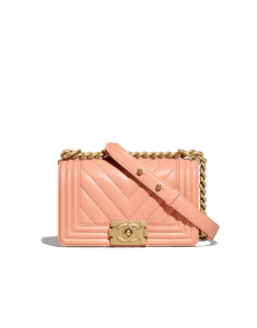 Chanel Orange Chevron Boy Chanel Small Flap Bag