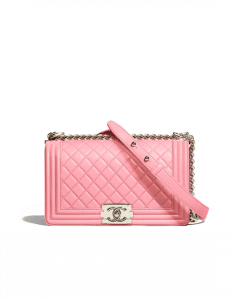 Chanel Pink Boy Chanel Old Medium Flap Bag