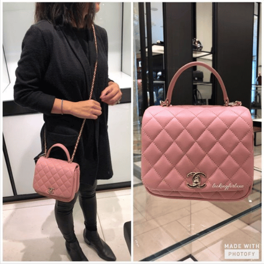 b6ee4fb96541 Chanel Pink Citizen Chic Mini Flap Bag 4. IG: looking_for_luxe