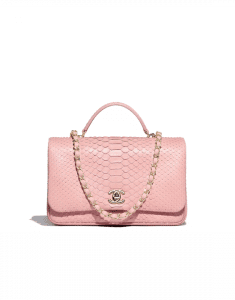 Chanel Pink Python Citizen Chic Small Flap Bag