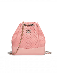Chanel Pink Python Gabrielle Backpack Bag