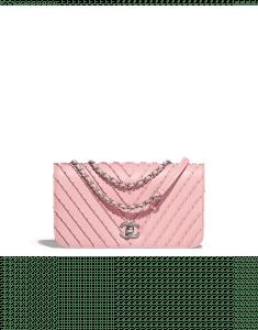 Chanel Pink Studded Calfskin Small Flap Bag