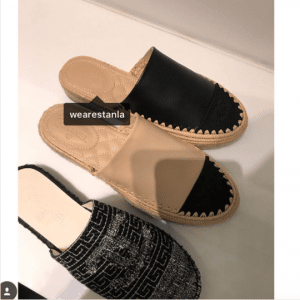 Chanel Tweed and Lambskin Espadrilles Slides