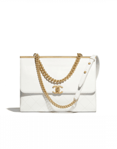 Chanel White Coco Luxe Medium Flap Bag
