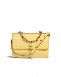 Chanel Yellow Coco Luxe Small Flap Bag