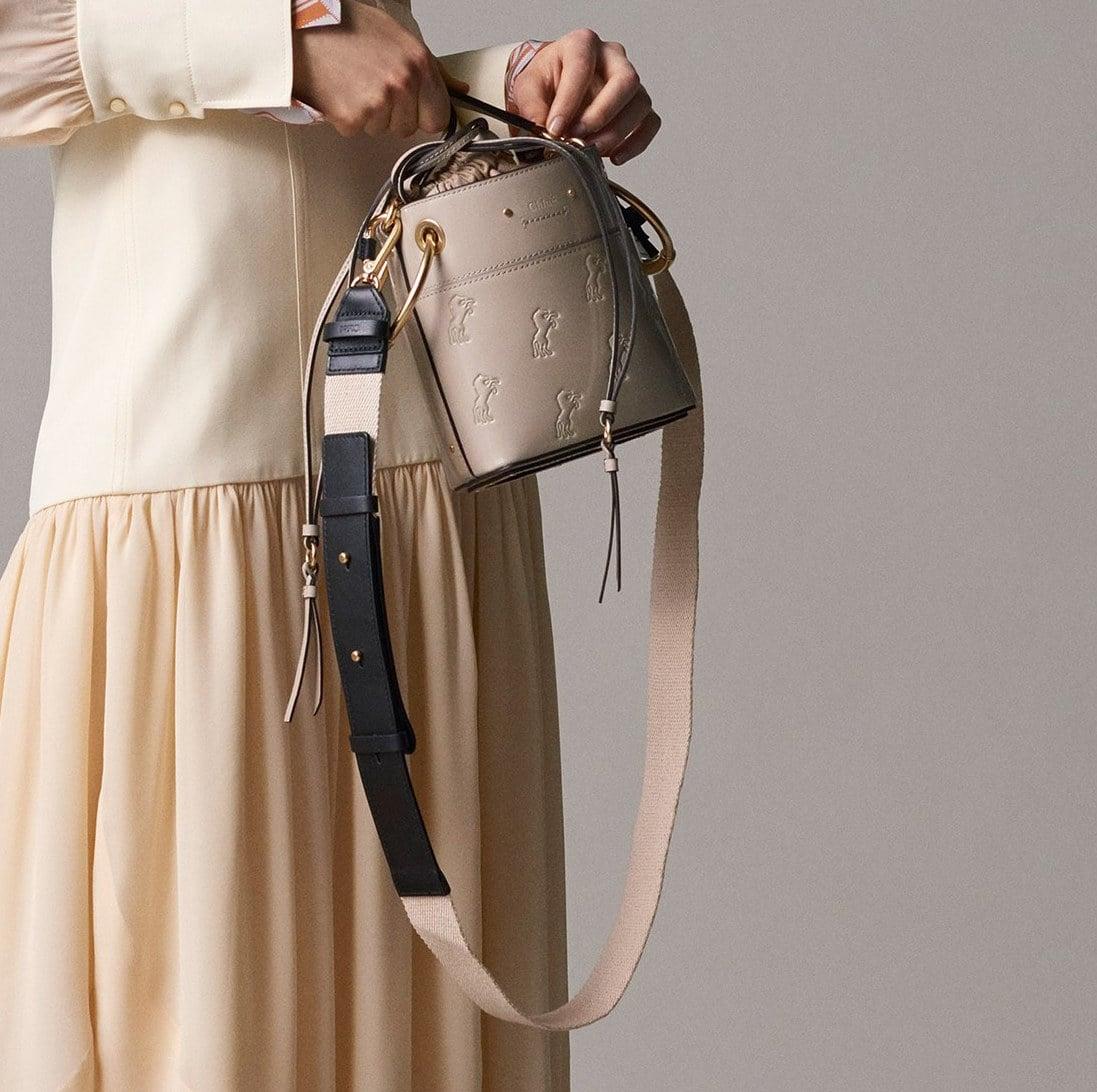 Roy mini leather bucket bag Chlo 1N5GKUpbW
