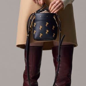 Chloe Black Horse Embroidered Bucket Bag - Pre-Fall 2018
