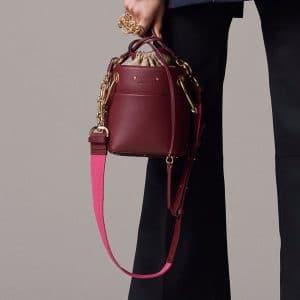 Chloe Burgundy Bucket Bag - Pre-Fall 2018