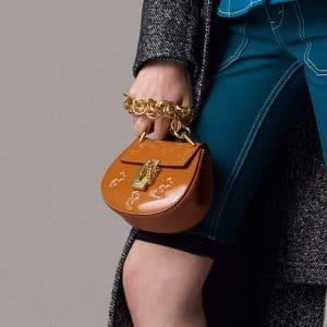 Chloe Tan Horse Embossed Drew Bijou Bag - Pre-Fall 2018