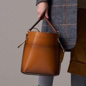 Chloe Tan Patent Bucket Bag - Pre-Fall 2018