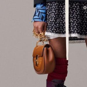 Chloe Tan Patent Drew Bijou Bag - Pre-Fall 2018