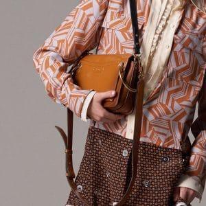 Chloe Tan Patent Roy Bag - Pre-Fall 2018