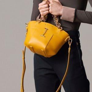 Chloe Yellow Mini Tote Bag - Pre-Fall 2018