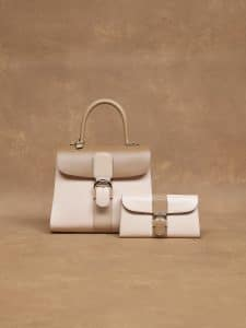 Delvaux Beige Brillant MM and Pochette Bags