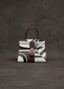 Delvaux Ebene/Ivory/Noir Ethiopia Brillant MM Bag