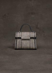 Delvaux Ebene/Ivory/Noir Tempete MM Bag