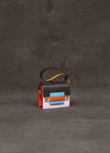 Delvaux Ebene/Ndebele Calf Souple Madame Mini Bag