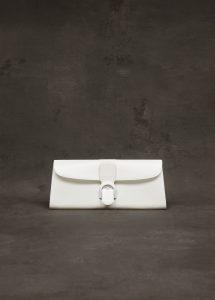 Delvaux Ivory Box Calf Pochette Brillant Bag