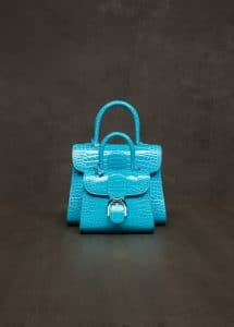 Delvaux Tuquoise Alligator Brillant Mini and MM Bags