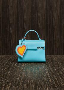 Delvaux Turquoise Calf Souple Tempete MM Bag