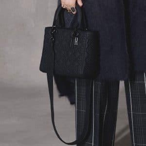 Dior Black Studded Lady Dior Bag - Pre-Fall 2018