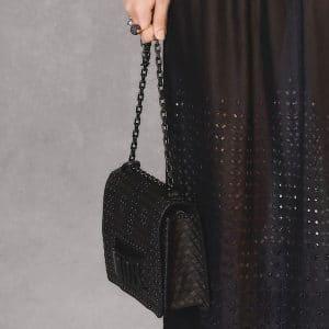 Dior Black Woven Dio(r)evolution Flap Bag - Pre-Fall 2018