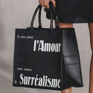Dior Black/White Printed Tote Bag - Pre-Fall 2018