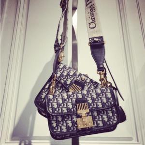 Dior Blue Oblique Canvas Dioraddict Flap Bags