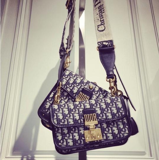Dior Blue Oblique Canvas Dioraddict Flap Bags. IG  franklytito f70ba2eb327ce