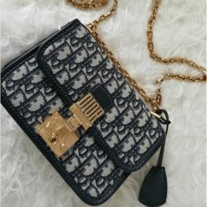 Dior Blue Oblique Canvas Dioraddict Small Flap Bag 2