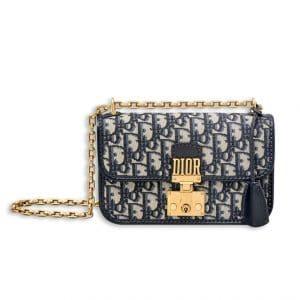 Dior Blue Oblique Canvas Dioraddict Small Flap Bag