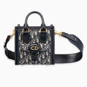 Dior Blue Oblique Signature Canvas Mini Tote Bag
