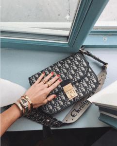 Dior Blue Oblique Signature Canvas Small Flap Bag 2