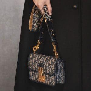 Dior Blue Signature Canvas Dior Oblique Dioraddict Flap Bag - Pre-Fall 2018