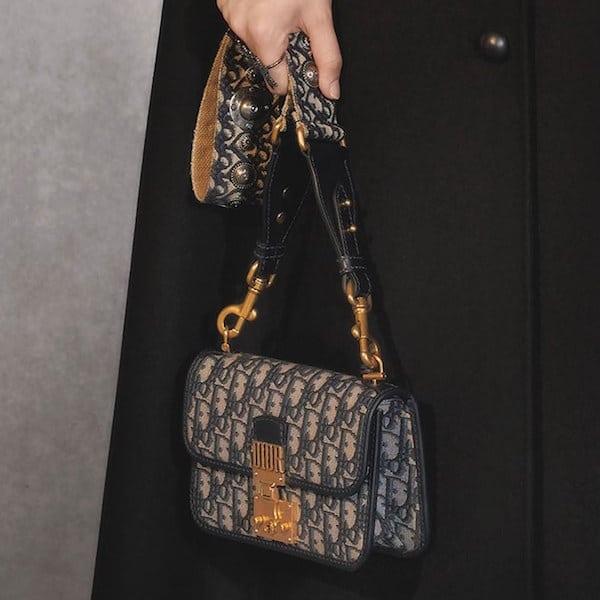 Dior Blue Signature Canvas Dior Oblique Dioraddict Flap Bag - Pre-Fall 2018 5cfc53d7c7417