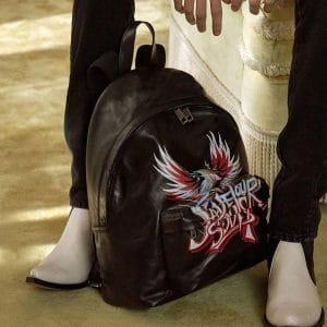 Givenchy Black Printed Backpack Bag - Pre-Fall 2018