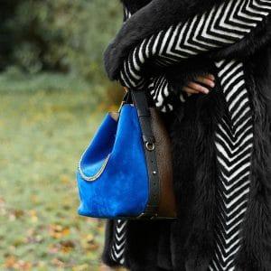 Givenchy Brown/Blue/Black GV3 Bucket Bag 2 - Pre-Fall 2018