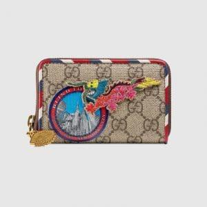 Gucci Beige/Ebony GG Supreme Gucci Courrier Supreme Card Case