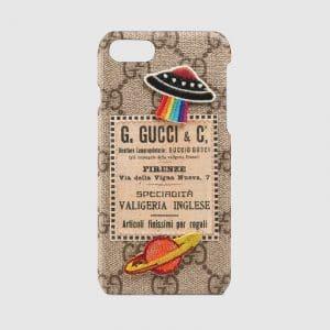 Gucci Beige/Ebony GG Supreme Gucci Courrier iPhone 7 Case