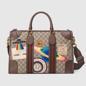 Gucci Beige/Ebony Soft GG Supreme Gucci Courrier Medium Duffle Bag
